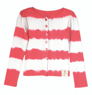 Cardigan Dyed Stripe-Red