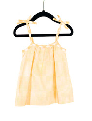 Bow Tank-Yellow Gingham