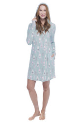 Champagne Dreams Jersey Long Sleeve Hooded Nightshirt