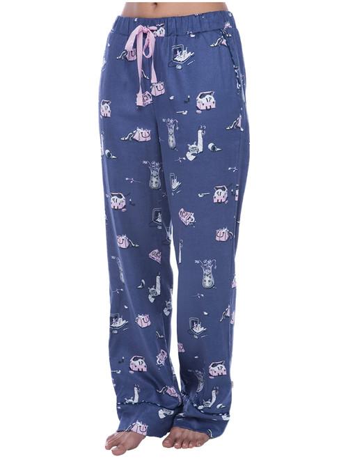 Cat Hide and Seek Flannel Pant (M01437)