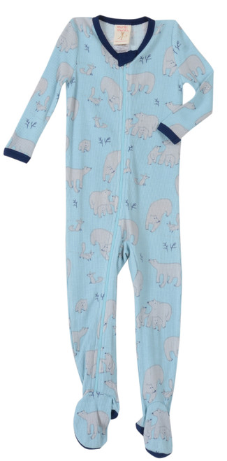 Blue Polar Bears Thermal Blanket Sleeper (MK00990)