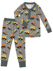 Construction Trucks Kids Long Johns (MK00998)