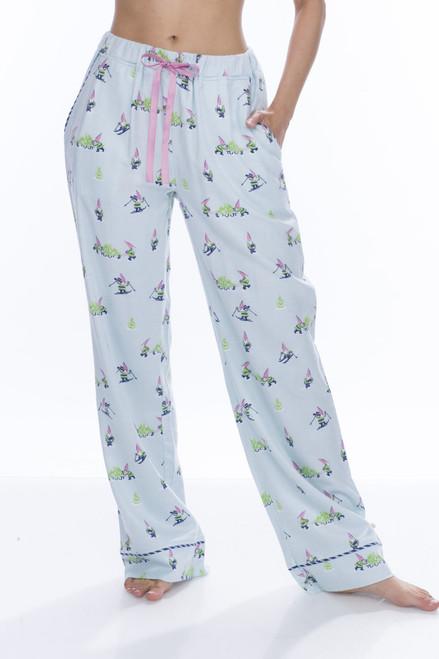 Light Blue Snow Gnome Flannel Pant (M01712)