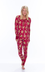 Red Gingerbread Thermal Long John Set (M01719)
