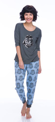 Darth Vader Sparkle Fleece Jogger PJ Set (M01814)