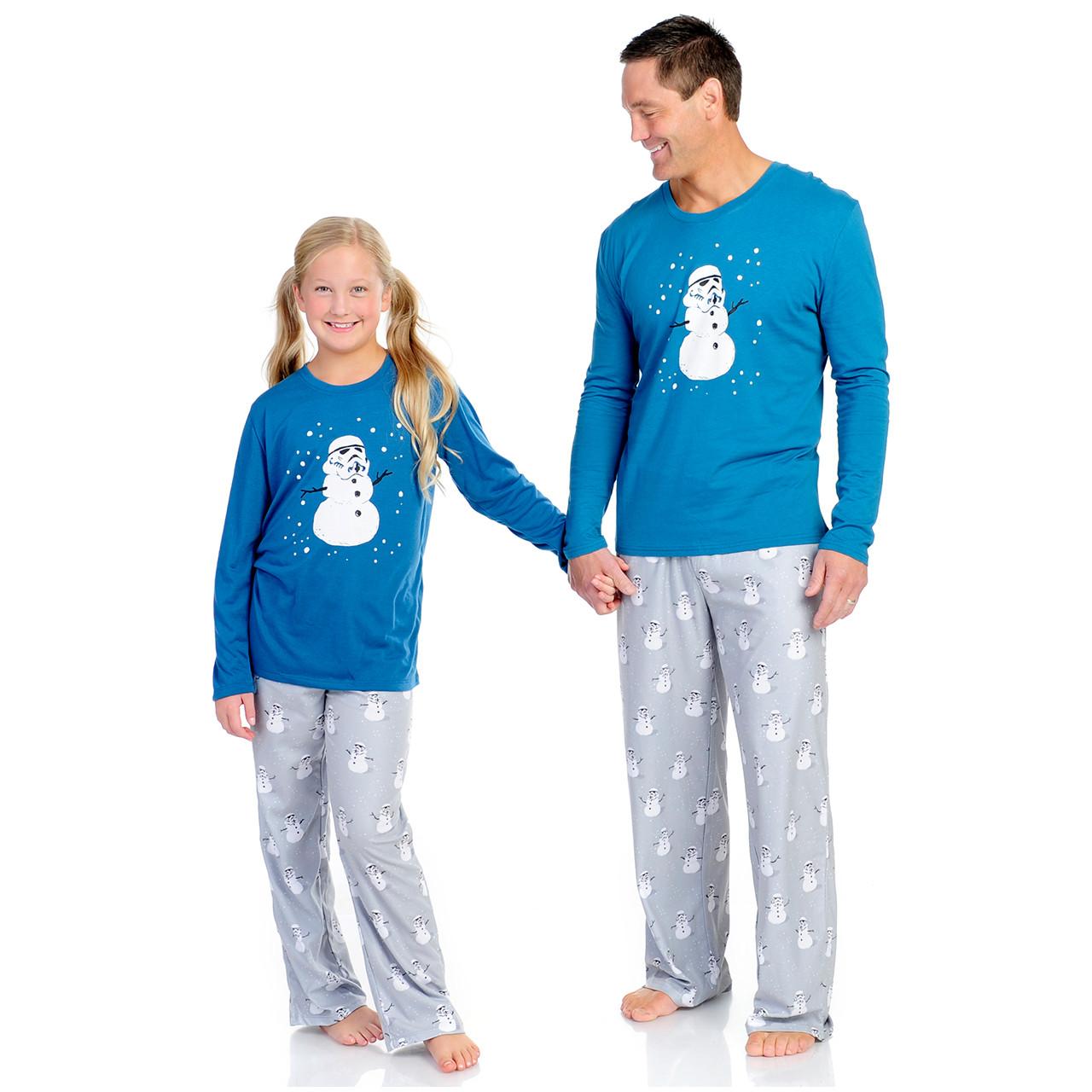 aad128413047 Stormtrooper Snowman Men s Long Sleeve and Pant PJ Set - Munki Munki