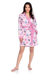 Donuts Women's Flannel Robe