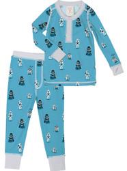 Cute Star Wars Kid's Rib Henley Top and Pant PJ Set
