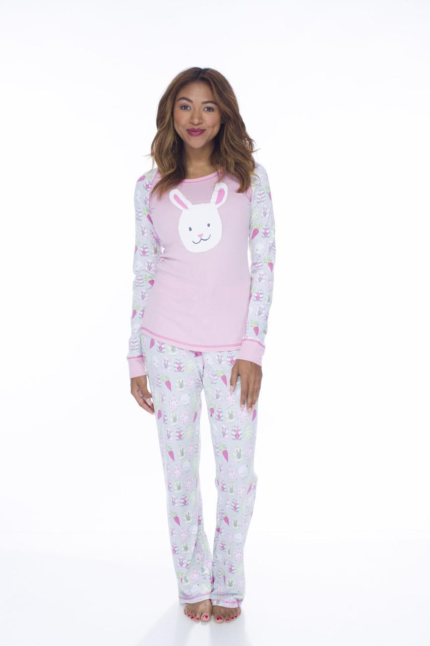 5a663d07c238 Easter Bunnies Women s Long Sleeve and Pant PJ Set - Munki Munki