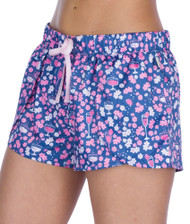 Rosé Flowers Women's Satin Petal Short