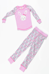 Girls Wallpaper Bunnies PJ Set