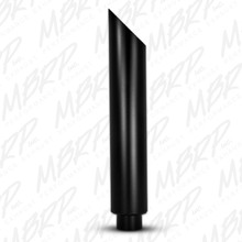 "1 pc Stack 6"" Angle Cut 36"" Black Finish - B1610BLK"