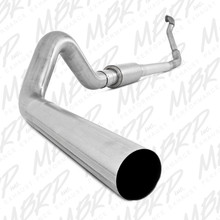 "4"" Turbo Back, Single Side Off-Road (Aluminized downpipe) - S6218P"