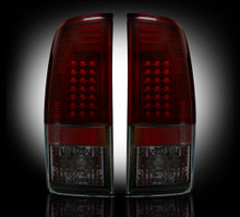Ford Superduty Dark Red/Smoked LED Tail Lights