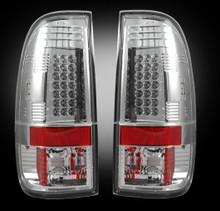 99-07 Ford Superduty Clear LED Tail Lights
