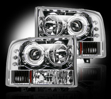 FORD SUPERDUTY & EXCURSION 99-04 CLEAR PROJECTOR HEADLIGHTS