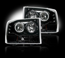 FORD SUPERDUTY & EXCURSION 99-04 SMOKED PROJECTOR HEADLIGHTS