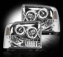 FORD SUPERDUTY & EXCURSION 05-07 CLEAR PROJECTOR HEADLIGHTS
