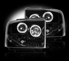 FORD SUPERDUTY & EXCURSION 05-07 SMOKED PROJECTOR HEADLIGHTS
