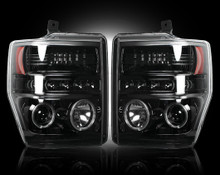 FORD SUPERDUTY 08-10 SMOKED PROJECTOR HEADLIGHTS