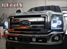 SMOKED Projector Headlights Ford Superduty 11-16 CCFL