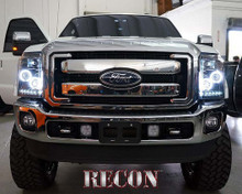 Ford Superduty 11-15 F250/F350/F450/F550 PROJECTOR HEADLIGHTS w/ CCFL HALOS & DRL - Clear / Chrome