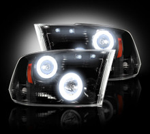 Dodge RAM 10-13 2500/3500 SMOKED PROJECTOR HEADLIGHTS w CCFL