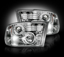Dodge RAM 10-14 2500/3500 PROJECTOR HEADLIGHTS - Clear / Chrome