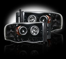 Dodge RAM 03-05 2500/3500 PROJECTOR HEADLIGHTS - Smoked / Black