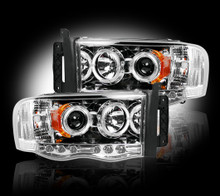 Dodge RAM 03-05 2500/3500 PROJECTOR HEADLIGHTS - Clear / Chrome