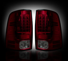 Dodge 10-14 RAM 2500/3500 (Replaces Factory OEM Halogen Tail Lights) - Dark Red Smoked Lens