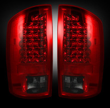 Dodge 07-09 RAM 2500/3500 LED TAIL LIGHTS - Dark Red Smoked Lens