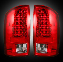 Dodge 07-09 RAM 2500/3500 LED TAIL LIGHTS - Red Lens