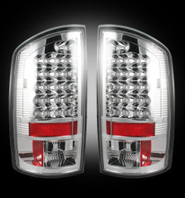 Dodge 07-09 RAM 2500/3500 LED TAIL LIGHTS - Clear Lens