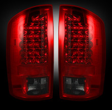 Dodge 03-06 RAM 2500/3500 LED Tail Lights - Dark Red Smoked Lens