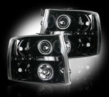 Chevrolet Silverado 07-13 2500/3500  PROJECTOR HEADLIGHTS - Smoked / Black