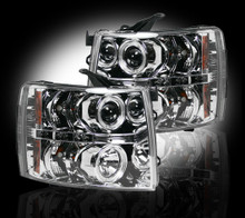 Chevrolet Silverado 07-13 2500/3500  PROJECTOR HEADLIGHTS - Clear / Chrome