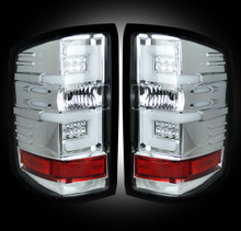 Chevy Silverado 14-16 2500/3500 LED TAIL LIGHTS - Clear Lens