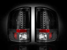 GMC Sierra 07-13 (2nd GEN SINGLE WHEEL ONLY) LED TAIL LIGHTS - Smoked Lens
