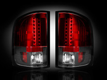 GMC Sierra 07-13 (2nd GEN SINGLE WHEEL ONLY) LED TAIL LIGHTS - Red Lens