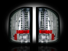 CLEAR LED Tail Lights 07-13 Chevy Silverado & GMC Sierra Dually