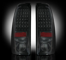 "Chevy Silverado & GMC Sierra 99-07 (Fits 2007 ""Classic"" Body Style Only) LED TAIL LIGHTS - Smoked Lens"