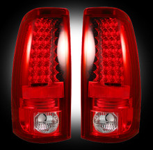 "Chevy Silverado & GMC Sierra 99-07 (Fits 2007 ""Classic"" Body Style Only) LED TAIL LIGHTS - Red Lens"