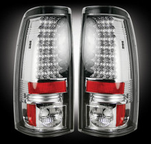 "Chevy Silverado & GMC Sierra 99-07 (Fits 2007 ""Classic"" Body Style Only) LED TAIL LIGHTS - Clear Lens"