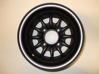 10x7 Matte All Black golf car wheel