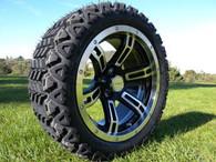 15 inch Innova Edge lifted golf car tire 23x10.5R15 and AR638 machined black wheel