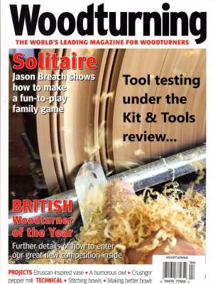 Front Cover of Woodturning Magazine April 2019