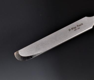 Small Curved Neg Rake Scraper
