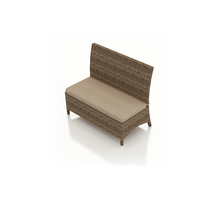 Forever Patio Cypress Wicker Dining Loveseat Bench