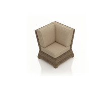 Forever Patio Cypress Wicker Sectional Corner Chair
